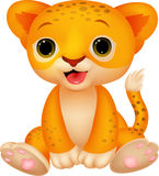 Cute baby lion cartoon Royalty Free Stock Photos