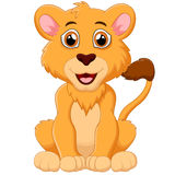 Cute baby lion cartoon Royalty Free Stock Photos