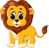 Cute baby lion cartoon. Illustration of cute baby lion cartoon Royalty Free Stock Images