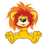 Cute baby lion cartoon. Stock Photography
