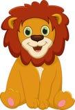 Cute baby lion cartoon Stock Photography