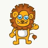 Cute baby lion cartoon vector Royalty Free Stock Photos