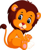 Cute baby lion. Illustration of cute baby lion Stock Photos