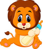 Cute baby lion. Illustration of cute baby lion Royalty Free Stock Image