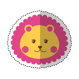 Cute baby lion isolated icon Stock Images