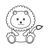 Cute baby lion isolated icon Royalty Free Stock Photos