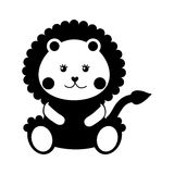 Cute baby lion isolated icon. Vector illustration design Royalty Free Stock Image