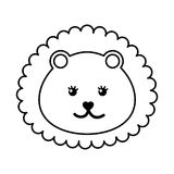 Cute baby lion isolated icon Royalty Free Stock Photography
