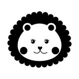 Cute baby lion isolated icon Royalty Free Stock Image