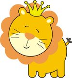 Cute baby lion king. Isolated baby lion king, individual objects very easy to edit Royalty Free Stock Photos