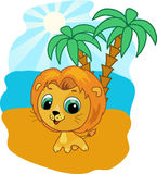 Cute baby lion vector illustration. Funny zoo Royalty Free Stock Photography