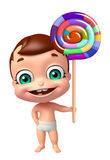 Cute baby with lollipop Stock Image