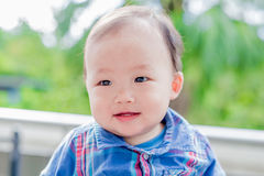 Cute baby look somewhere Royalty Free Stock Photos
