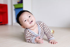 Cute Baby Look Up forward Royalty Free Stock Photo