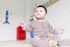 Cute Baby Look Up forward Royalty Free Stock Photos