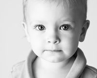 Cute baby looking straight at you Royalty Free Stock Photos