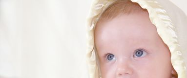 Cute baby is looking up Royalty Free Stock Photos