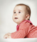 Cute baby looking up Royalty Free Stock Photo