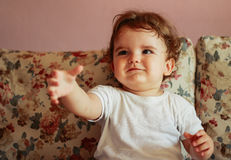 Cute Baby Lookup Royalty Free Stock Photography