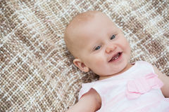 Cute baby lying on blanket Stock Photography