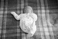 Cute baby lying and play Stock Photography