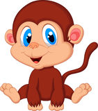 Cute baby monkey cartoon Royalty Free Stock Images