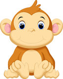 Cute baby monkey cartoon Royalty Free Stock Photography