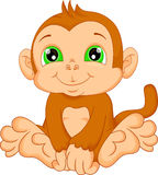 Cute baby monkey cartoon Royalty Free Stock Photos