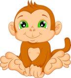 Cute baby monkey cartoon. Vector illustration of cute baby monkey cartoon Royalty Free Stock Photos