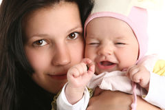 Cute baby with mother Stock Photos
