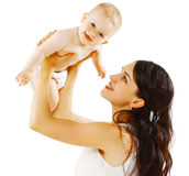 Cute baby and mother royalty free stock photos