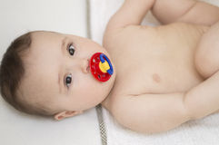 Cute Baby. Naked Lying Royalty Free Stock Images