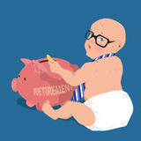 Saving for retirement early Royalty Free Stock Photography