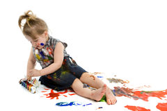 Cute baby paintings Royalty Free Stock Photography