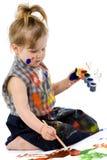 Cute baby paintings Stock Image