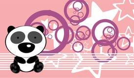 Cute baby panda bear background Stock Photography