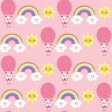 Cute baby panda bears seamless pattern Stock Photos