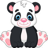 Cute baby panda cartoon. Cubs are cute and adorable vector illustration