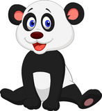 Cute baby panda cartoon Stock Images
