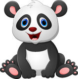 Cute baby panda cartoon Stock Image