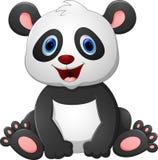Cute baby panda cartoon Stock Image