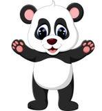 Cute baby panda cartoon Stock Photos