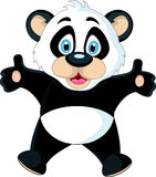 Cute Baby panda rising his hand Royalty Free Stock Photos