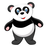 Cute baby panda smile of vector Royalty Free Stock Photography
