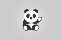 Cute baby panda of vector Stock Images