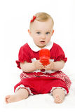 Cute baby with phone Royalty Free Stock Photography
