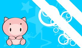 Cute baby pig background Royalty Free Stock Image