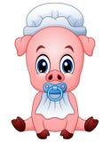 Cute baby pig cartoon. Illustration of Cute baby pig cartoon vector illustration
