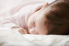 Cute baby in pink Stock Image