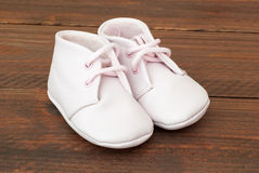 Cute baby  pink shoes Royalty Free Stock Photography